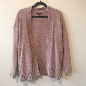 American Eagle Chenille Cardigan Blush Pink
